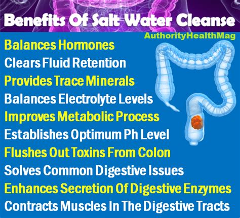 Benefits Of Salt Water Detox by Is Sea Salt Water Cleanse Healthy For Colon Flushing