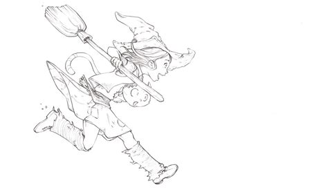 line drawing sketches from blue sketch to digital in krita david revoy