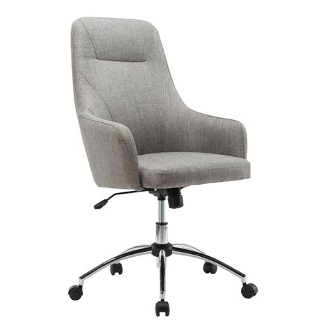 Rolling Chair - techni mobili gray comfy height adjustable rolling office