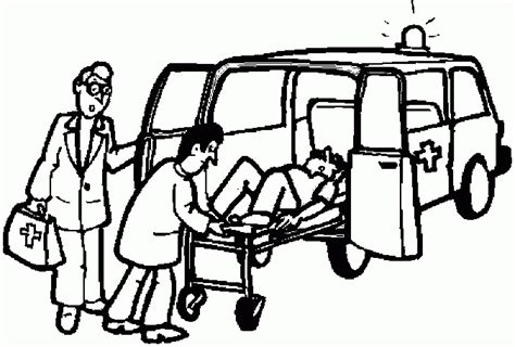 ambulance coloring pages coloringpagesabc com
