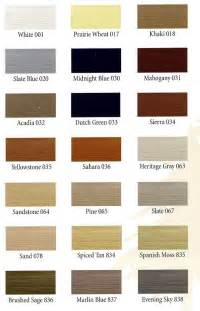 vinyl siding color chart vinyl siding metal roofing