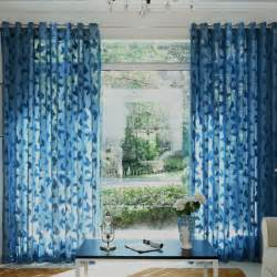 Blue Sheer Curtains Beautiful Butterfly Patterned Sheer Curtain In Blue Color