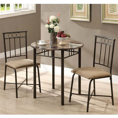 Marble Top Bistro Table Set Monarch Specialties I 30 3 Faux Marble Top Bistro Table Set Atg Stores