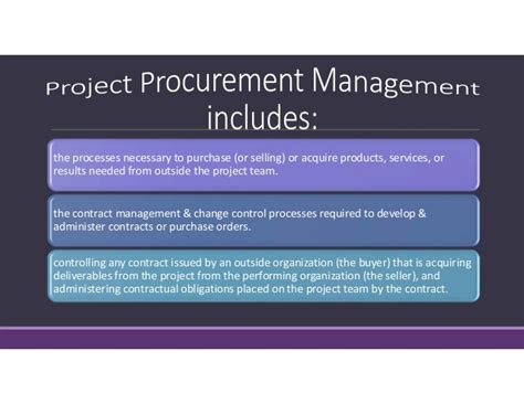 Mba Procurement And Contract Management by 12 Project Procurement Management
