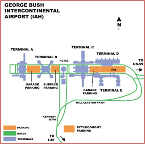 map of george bush intercontinental airport houston texas airguide airports houston george bush intercontinental