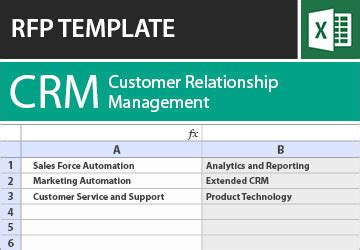 Crm Rfp Template by Crm Rfp Templates Software Rfi Requirements Checklist