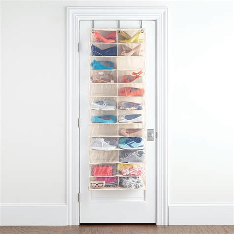 over the door organizer over the door shoe organizer 24 pocket over the door shoe organizer the container store