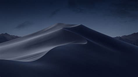 wallpaper desert dunes night macos mojave stock hd