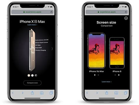 new iphone xs and iphone xs max experience website puts apple top level domain to use