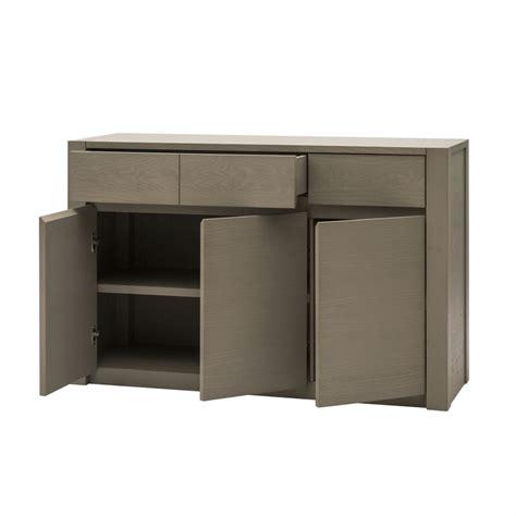 credenza moderna prezzi credenza moderna in legno grigio a tre ante e due cassetti