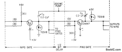 diode transistor logic diagram pumped tunnel diode transistor logic gate basic circuit circuit diagram seekic