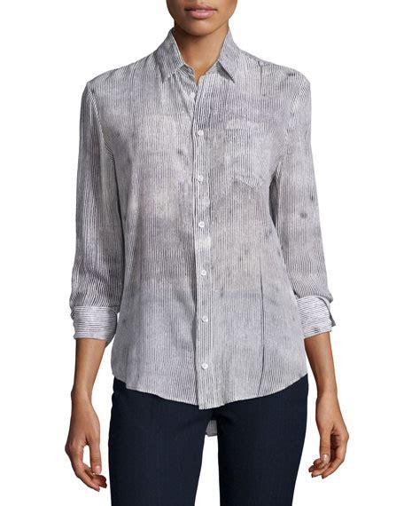 Pinstriped Blouse joseph pinstripe silk blouse neiman