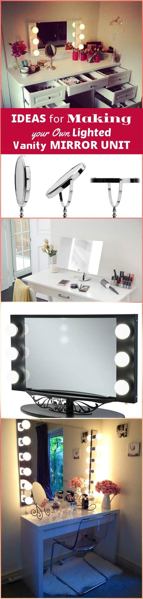 ideas for making your own vanity mirror with lights diy 20 diy makeup vanity tutorials diy your own makeup