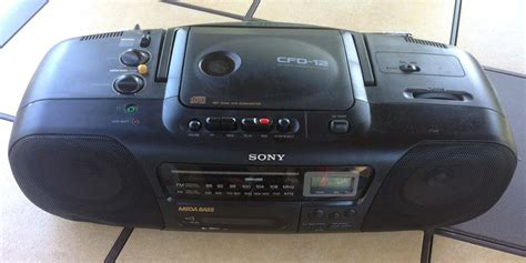cassette player boombox sony cfd 12 boombox cd player am fm radio cassette
