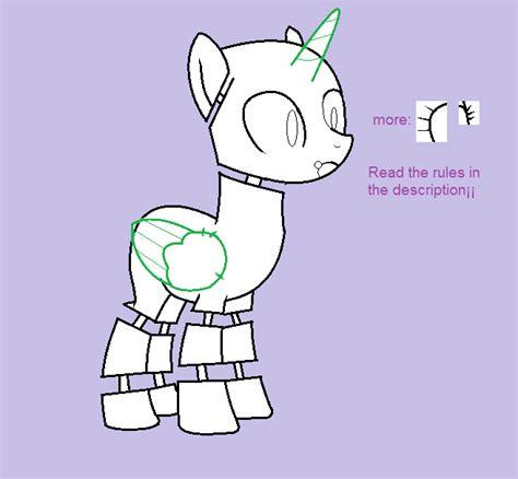 five ponies mlp base pony animatronic base 01 by fnafkitnn123 on deviantart