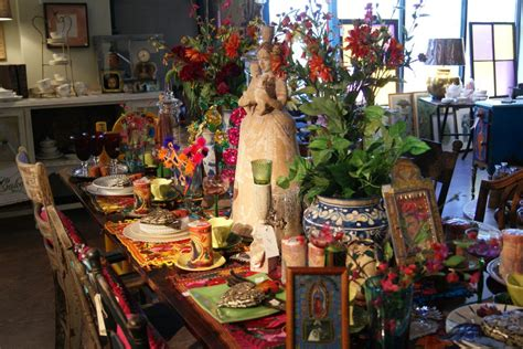 bazaar home decorating global table mexican style zinnia folk arts