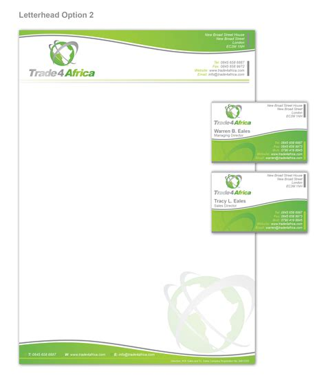 business letterhead and business cards stationery design stationery brief for school design