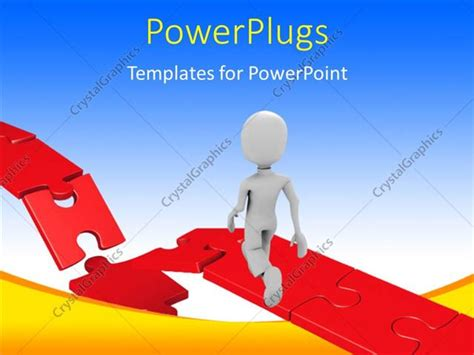 powerpoint template the only missing puzzle now there in powerpoint template 3d man walking towards damaged part