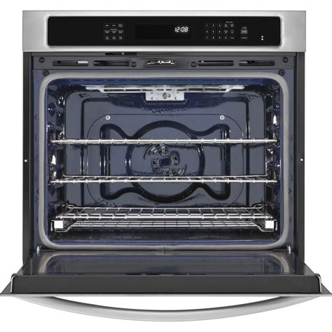 How To Clean Oven Racks In Self Cleaning Oven by Kitchenaid Kebs109bss 30 Quot Single Wall Oven With 5 0 Cu Ft Capacity True Convection 3 Oven