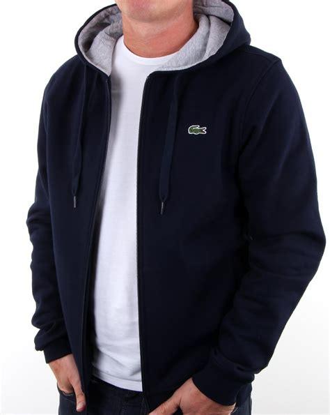 Hoodie Zipper Sweater Lacoste 1 lacoste hooded zip sweatshirt navy silver chine s top
