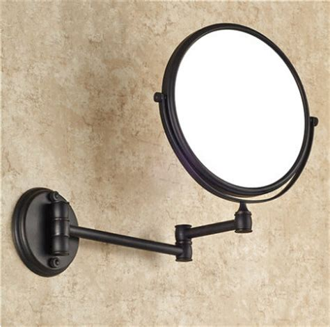 Bronze Beauty Mirror Bathroom Mirror Sided Retractable Sided Bathroom Mirror