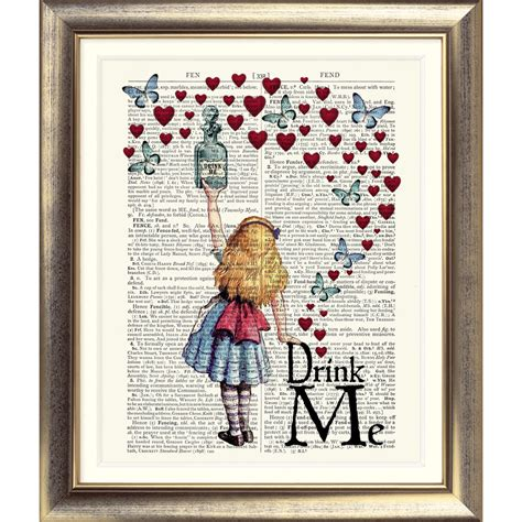 printable art books dictionary page art print vintage antique book alice in