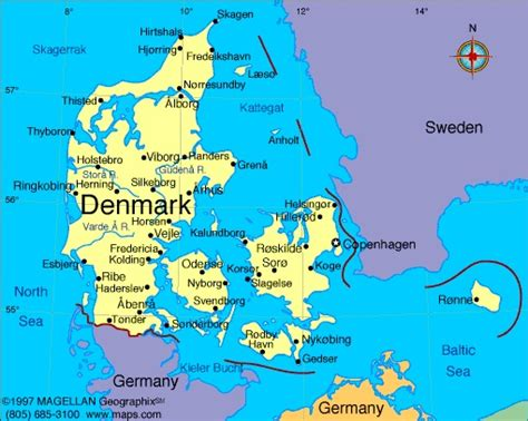map netherlands and denmark denmark information and facts