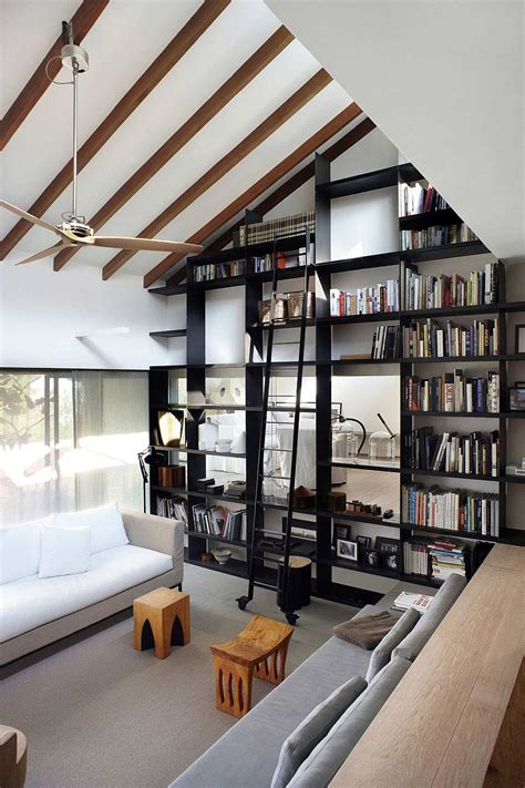 living room library space saving book shelves and reading rooms