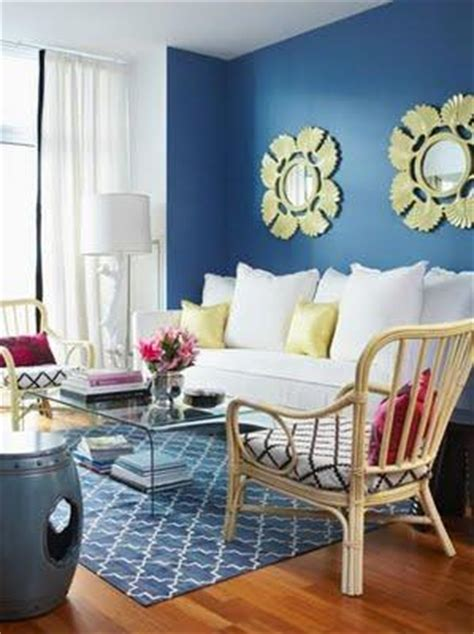 Yellow Blue And White Living Room Blue Trellis Rug Contemporary Living Room House Home