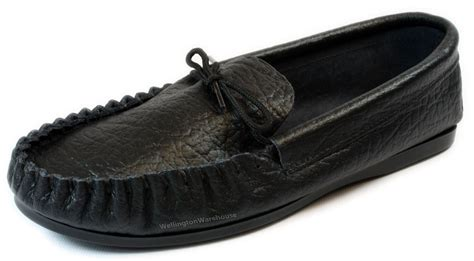 Mens Handmade Moccasins - mens black leather moccasins slippers handmade uk