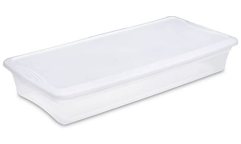 under the bed storage containers new sterilite 19608006 41 quart under the bed latch tote