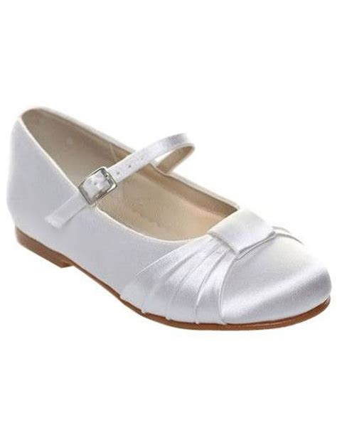 white satin flat shoes white satin bow flat flower shoes wedding