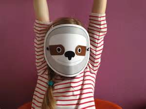 sloth mask template unavailable listing on etsy
