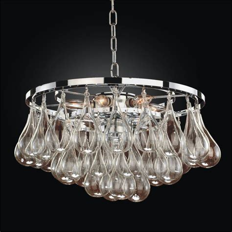 blown glass modern pendant chandelier concorde 615