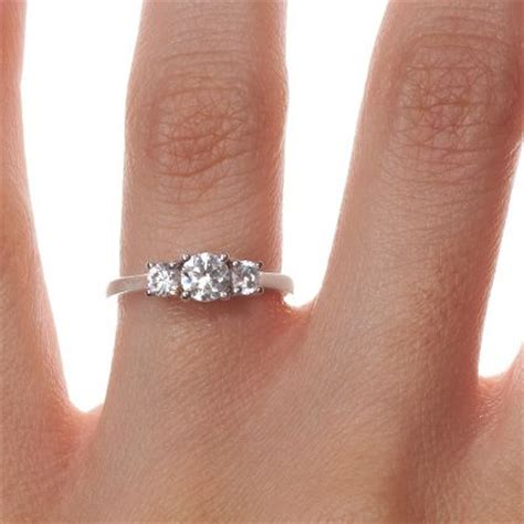 17 Best ideas about Three Stone Engagement Rings on