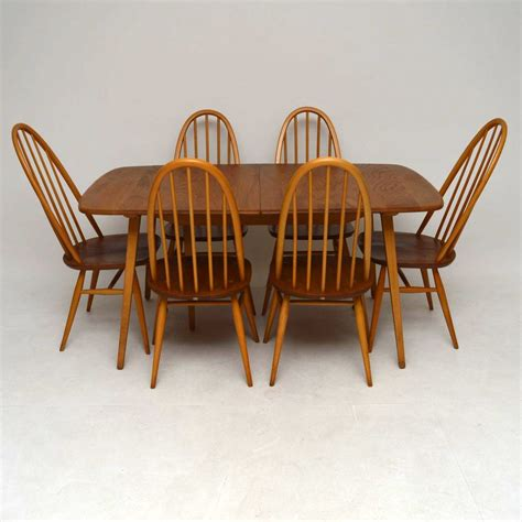 Ercol Dining Table And Chairs For Sale 1960 S Ercol Grand Dining Table Six Chairs Interior Boutiques Antiques For Sale