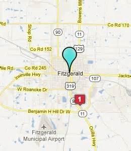 fitzgerald map fitzgerald ga hotels motels see all discounts