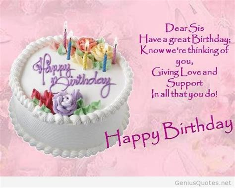 Birthday Wishes Quotes For My Birthday Quotes For Sisters
