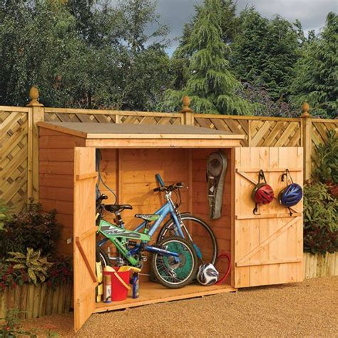 Potting Shed Plans Rowlinson 6 X 3 Double Door Tongue And Groove Bike Shed