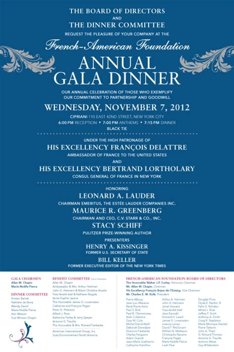 2012 annual gala dinner your invitation programme charity