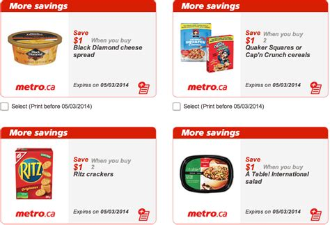 printable grocery coupons alberta metro quebec canada printable grocery coupons valid till