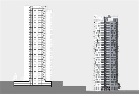 skyscraper section archventil skyscraper in likhoborka area moscow russia