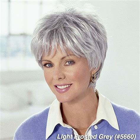 frosted short hair styles women with frosted hair frosted grey 5660