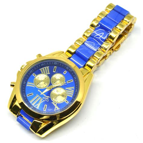 Jam Tangan Fashion Geneva Gf02 geneva jam tangan analog pl 201 golden blue