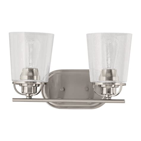 Vanity Light Shades Progress Lighting Inspiration Collection 2 Light Brushed Nickel Vanity Light With Clear Seeded