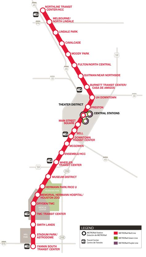 res line metrorail line map schedules