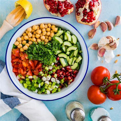 chickpea salad mediterranean chickpea salad recipe with tahini dressing