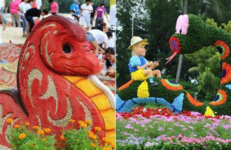 sentosa new year flower exhibition sentosa island flower show kicks in singapore china