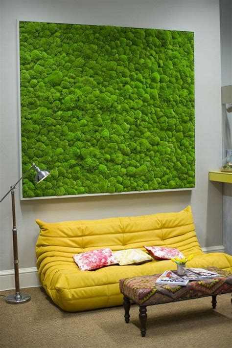fresh  natural moss wall art decorations home