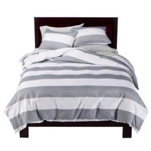 splurge vs steal grey white stripe bedding casita designs